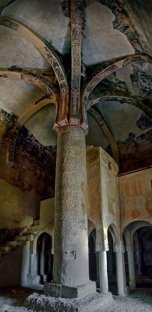 Palmera central en la ermita de San Baudelio de Berlanga